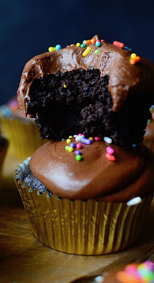 Allergy Friendly Chocolate Cupcakes (Gluten, Dairy, Egg, and Nut Free)