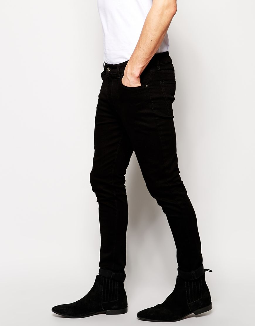 Super Skinny Jeans in Black | ASOS, Of and Black skinnies