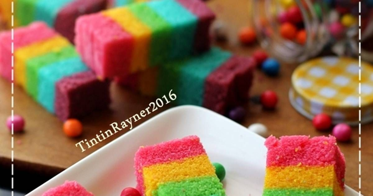 Resep Steamed Rainbow Cake Ny Liem Oleh Tintin Rayner Resep Resep Kue Pelangi Kue Lezat