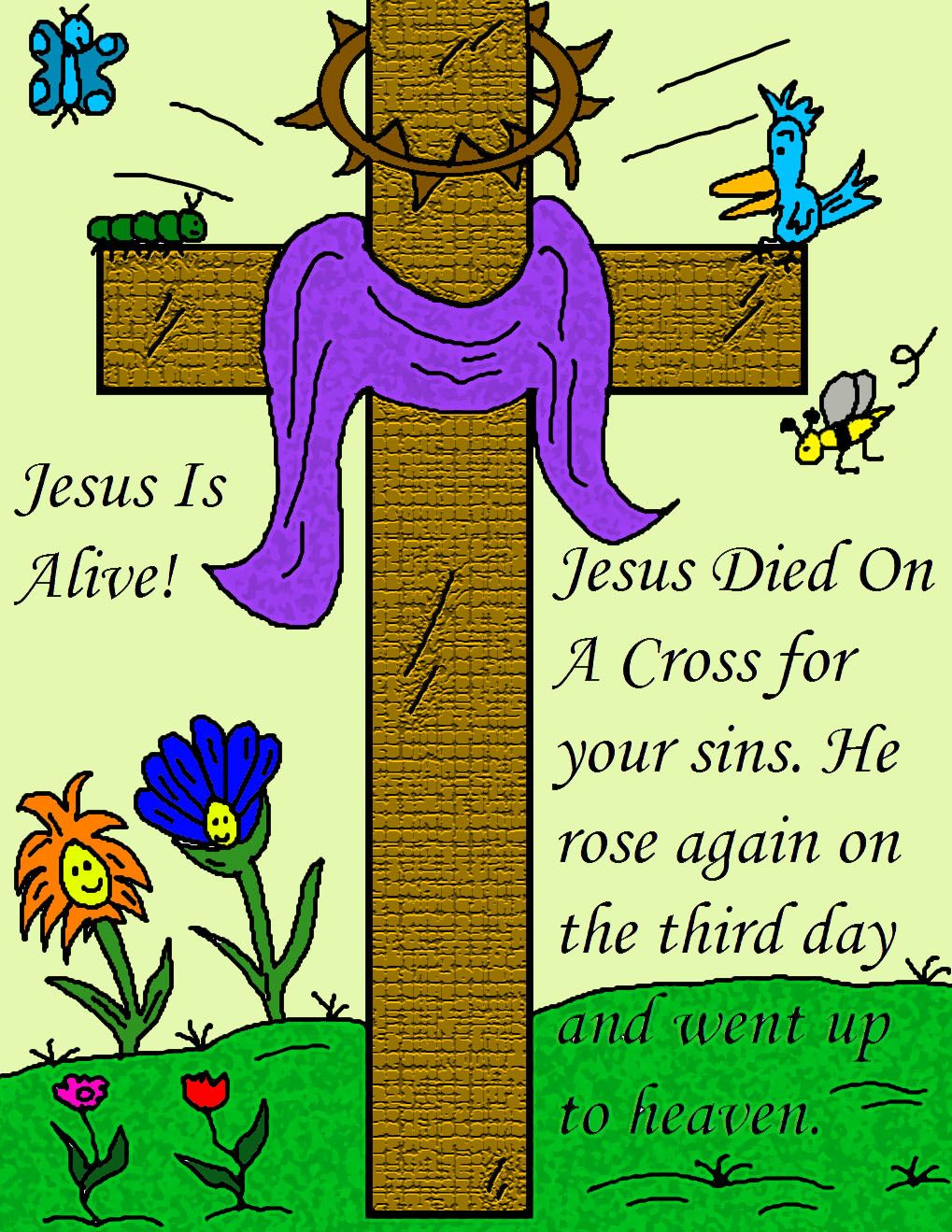 free printable Easter pictures, posters, Jesus is risen