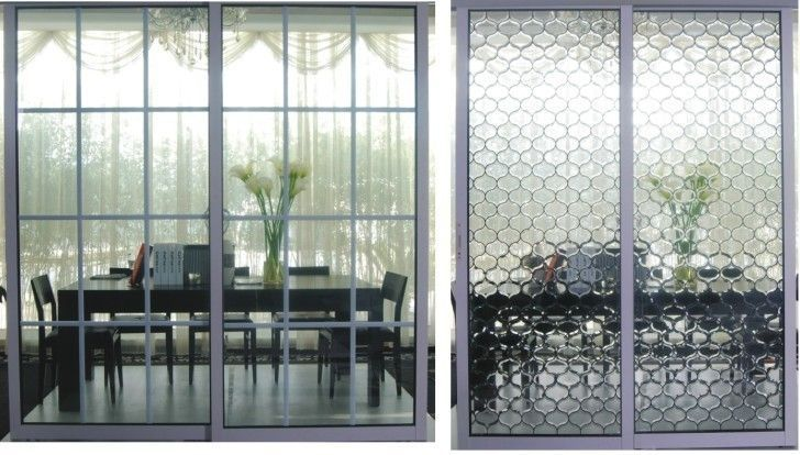 metal room dividers partitions China Frosted Glass Metal Room