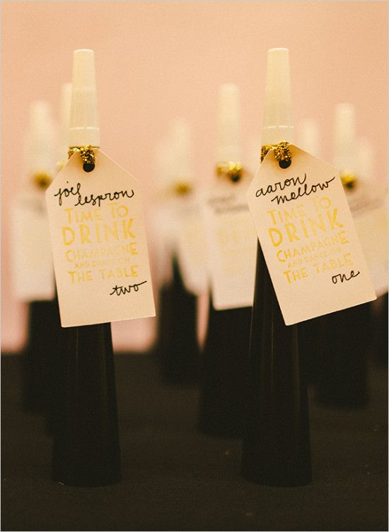 noise maker escort cards and favors weddingchicks