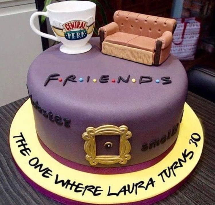 Surprising For The Ultimate Friends Fan Their Dream Birthday Cake With Funny Birthday Cards Online Alyptdamsfinfo
