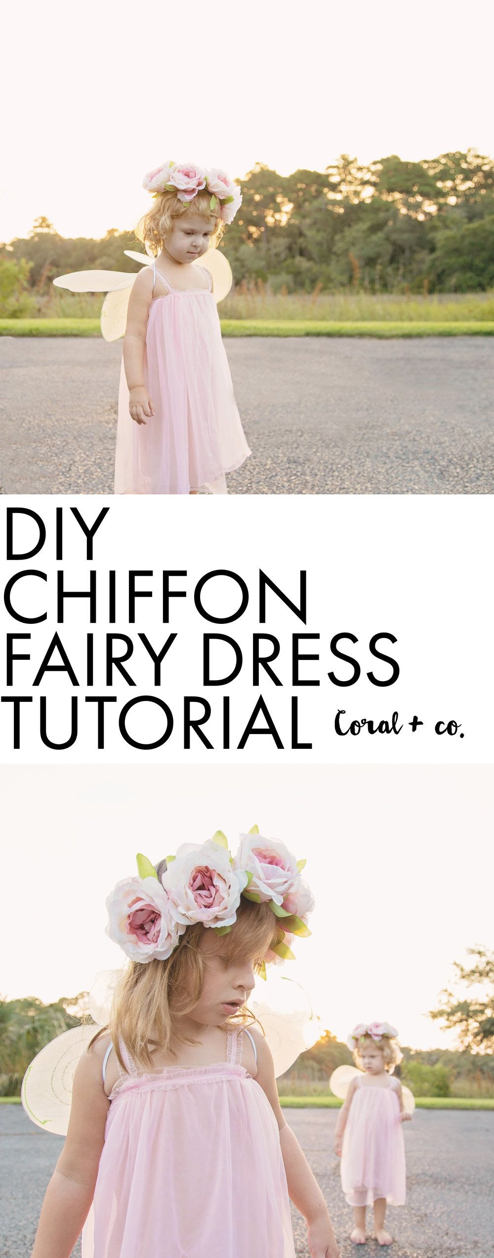 DIY Fairy Costume Tutorial with Flowy Chiffon | Tutoriales de ...