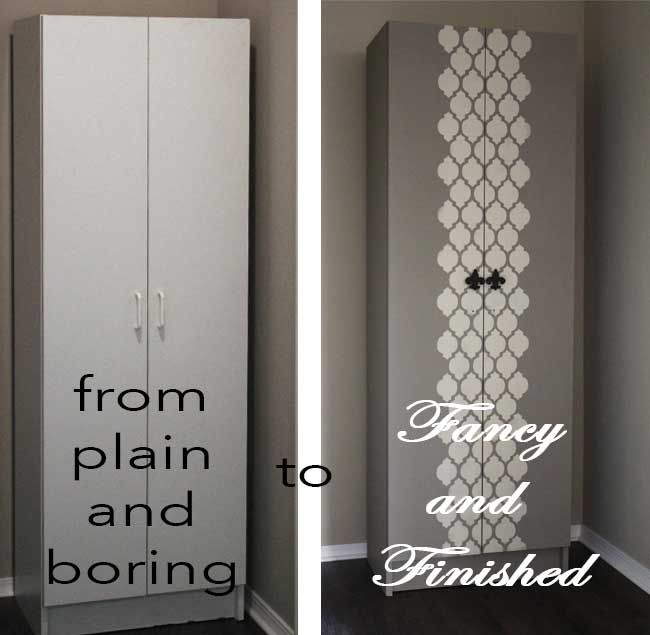Miss Smarty Paints A White Melamine Cabinet Gets Fancy With