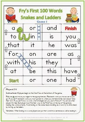 Free Fry S First 100 Games With Images Sight Words