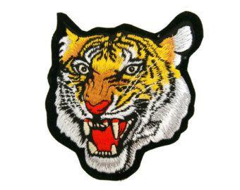 Cara de Tigre grande bordado de apliques de hierro en por DIYMINT