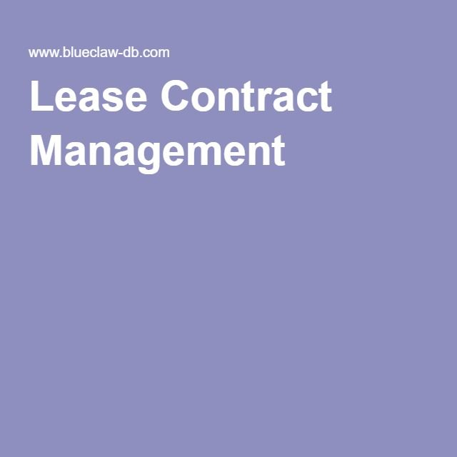 Lease Contract Management Lease Management Software Requires A