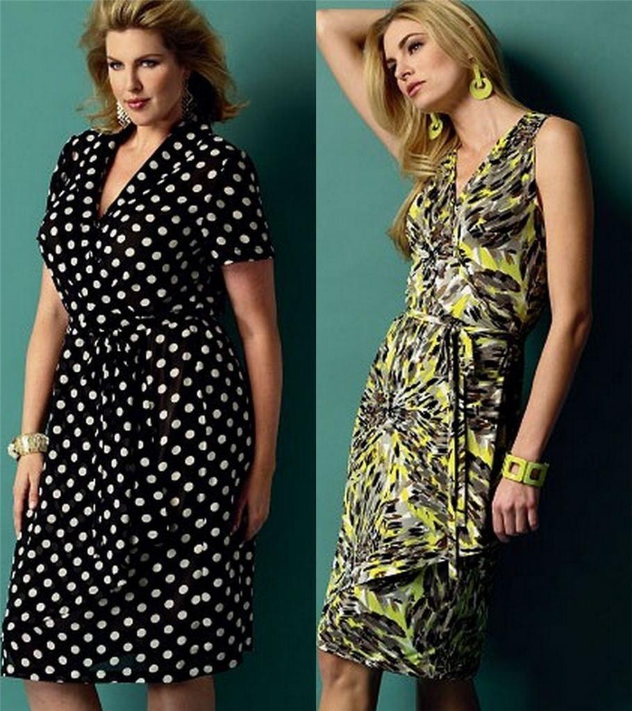 Butterick sewing pattern misses wrap dress with plus size full butterick sewing pattern misses wrap dress with plus size full figure spring ebay jeuxipadfo Images