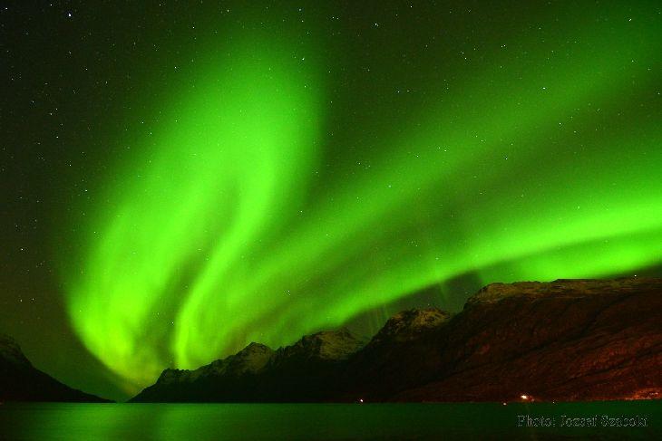 Auroras  Taken by Jozsef Szaboki on October 19, 2014 @ Rakkfjorden and Ersfjordbotn Kvajøla near Tromsø