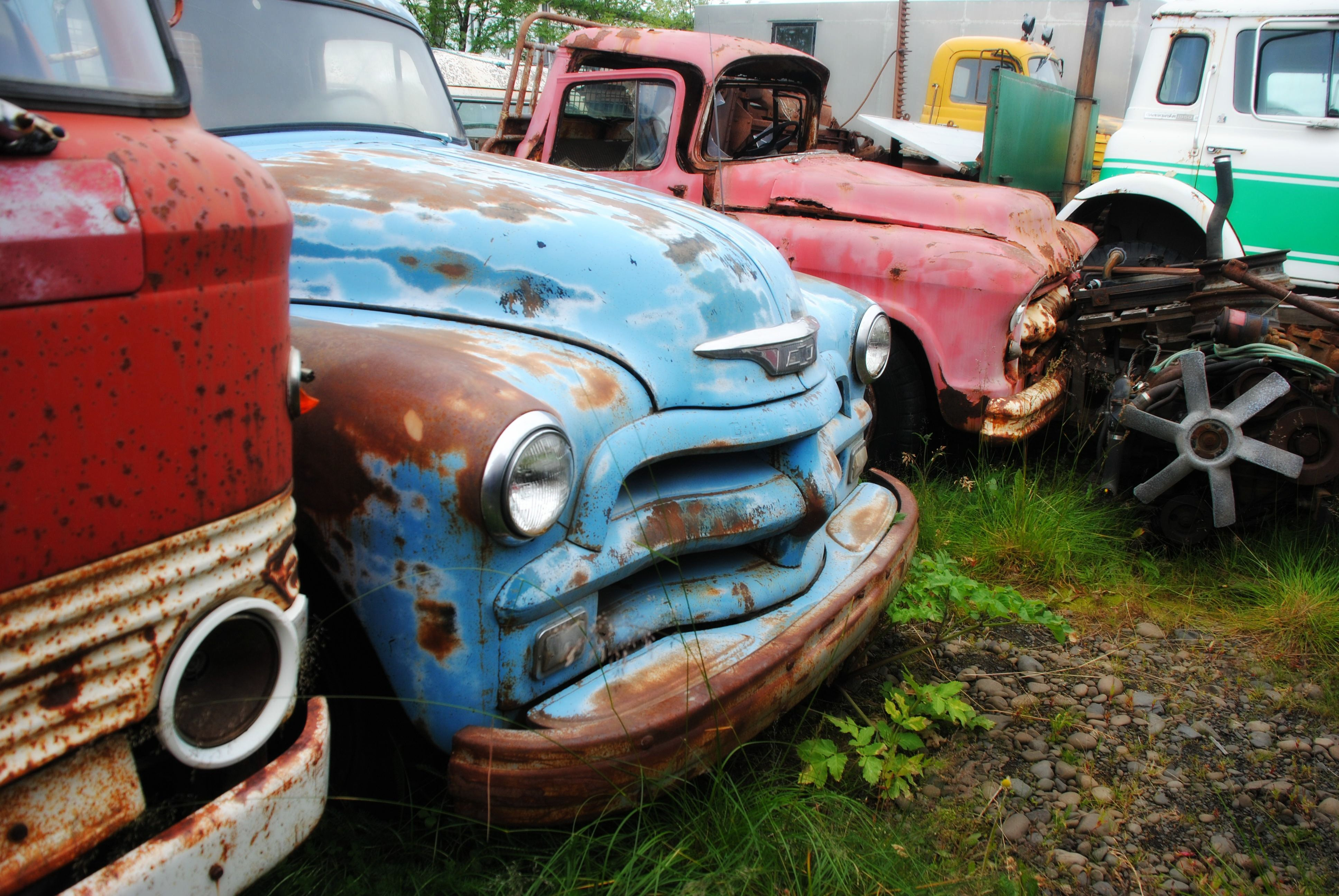 Car graveyard at Egilsstaðir, Iceland. Old cars - even more ...