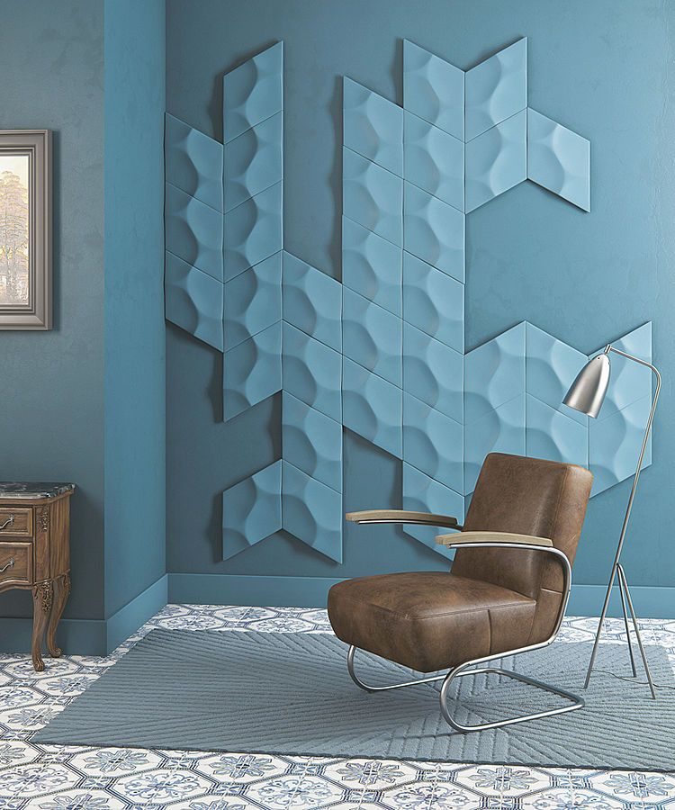 Decorative 3D wall elements for an effective