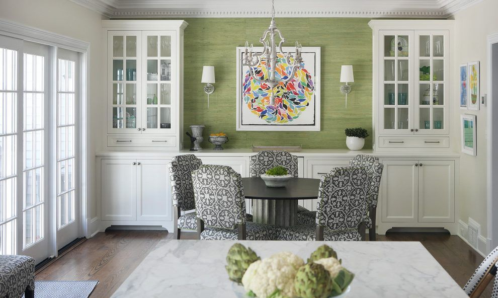 Built In Buffet Design Ideas Dining Room Transitional With