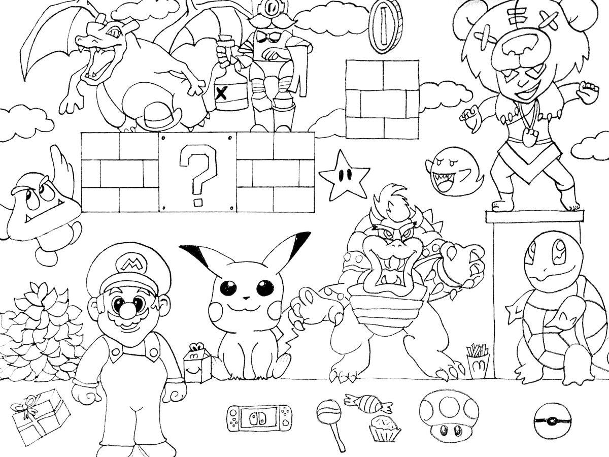 Kleurplaat Mario Brawl Stars Pokemon Kleurplaten