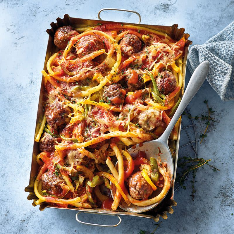 Photo of Baked meatball pasta with paprika recipe WW Germany