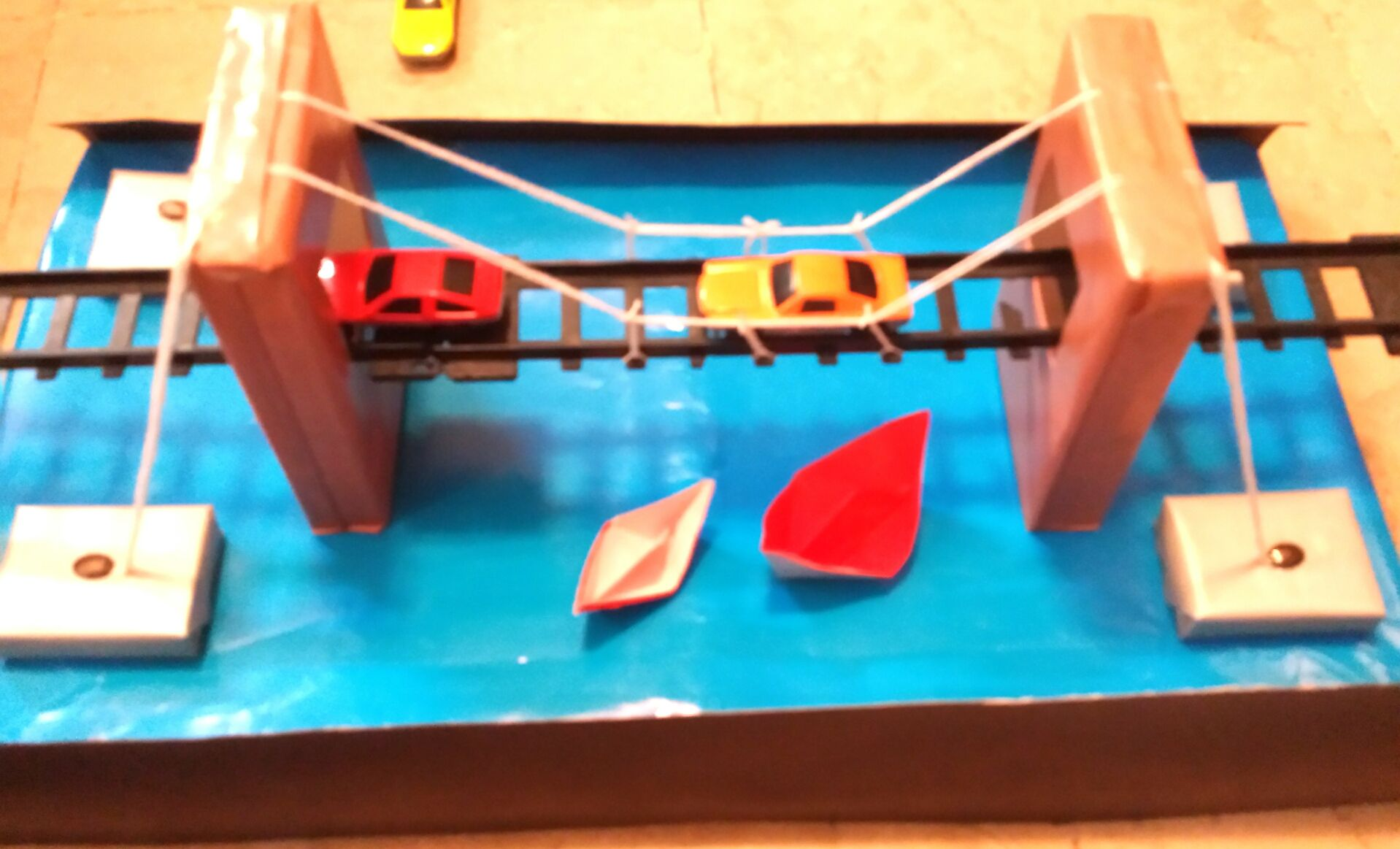 Diy Model Of A Bridge For Teens And Kids With Recycled