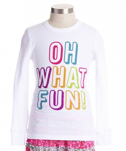 Oh What Fun Tee - Tops  Tees - Shop - girls Peek Kids Clothing