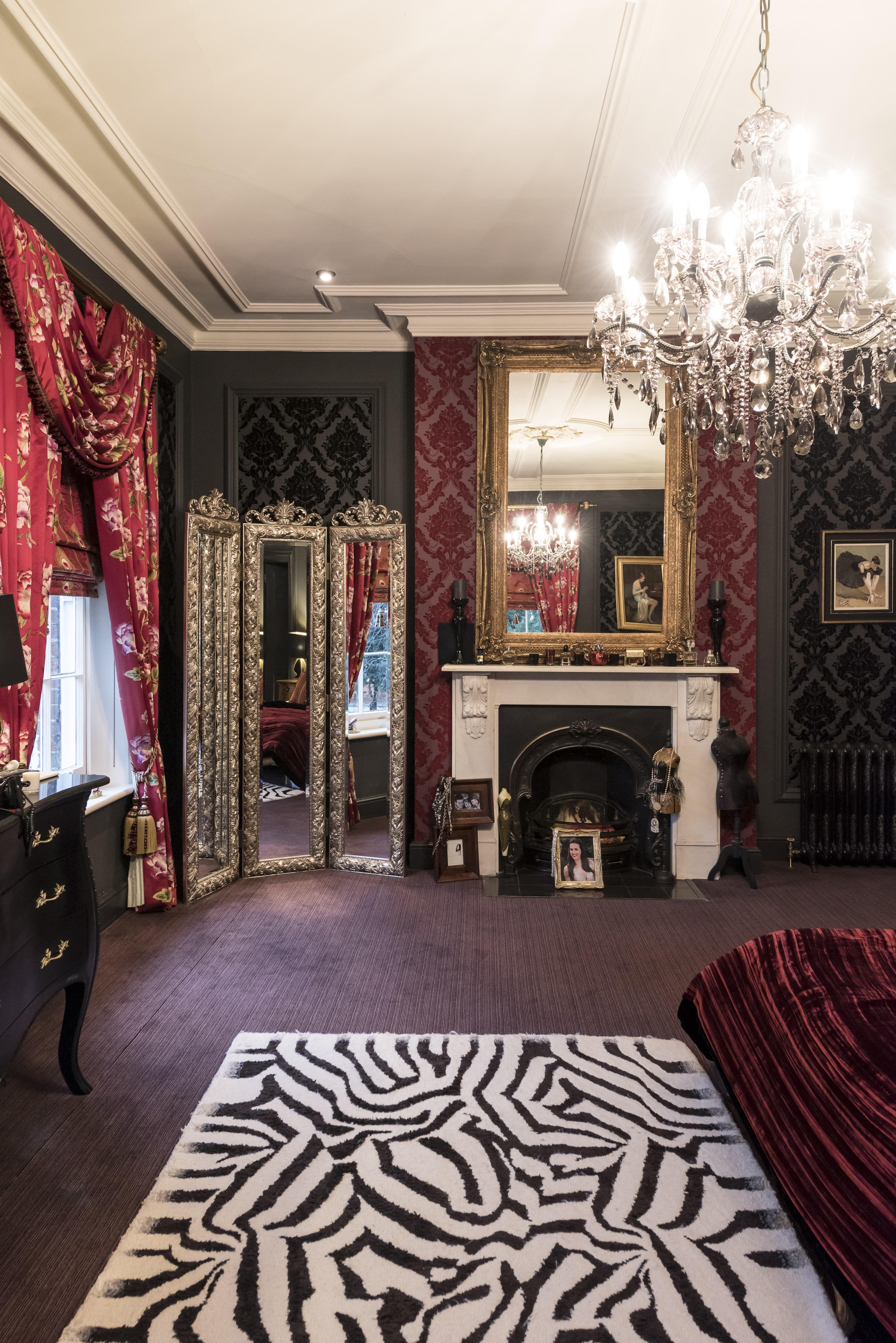 Gothic Glam, Bedroom Interior, Luxury Interior Design