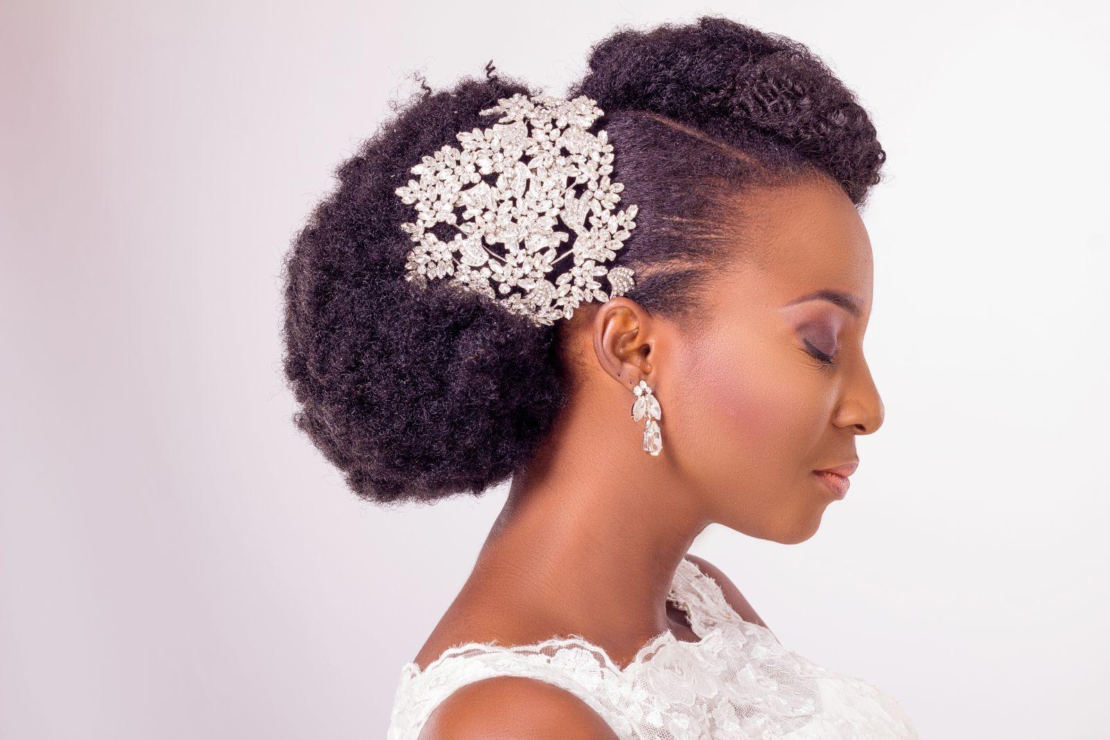 Natural Hair Bridal Inspiration