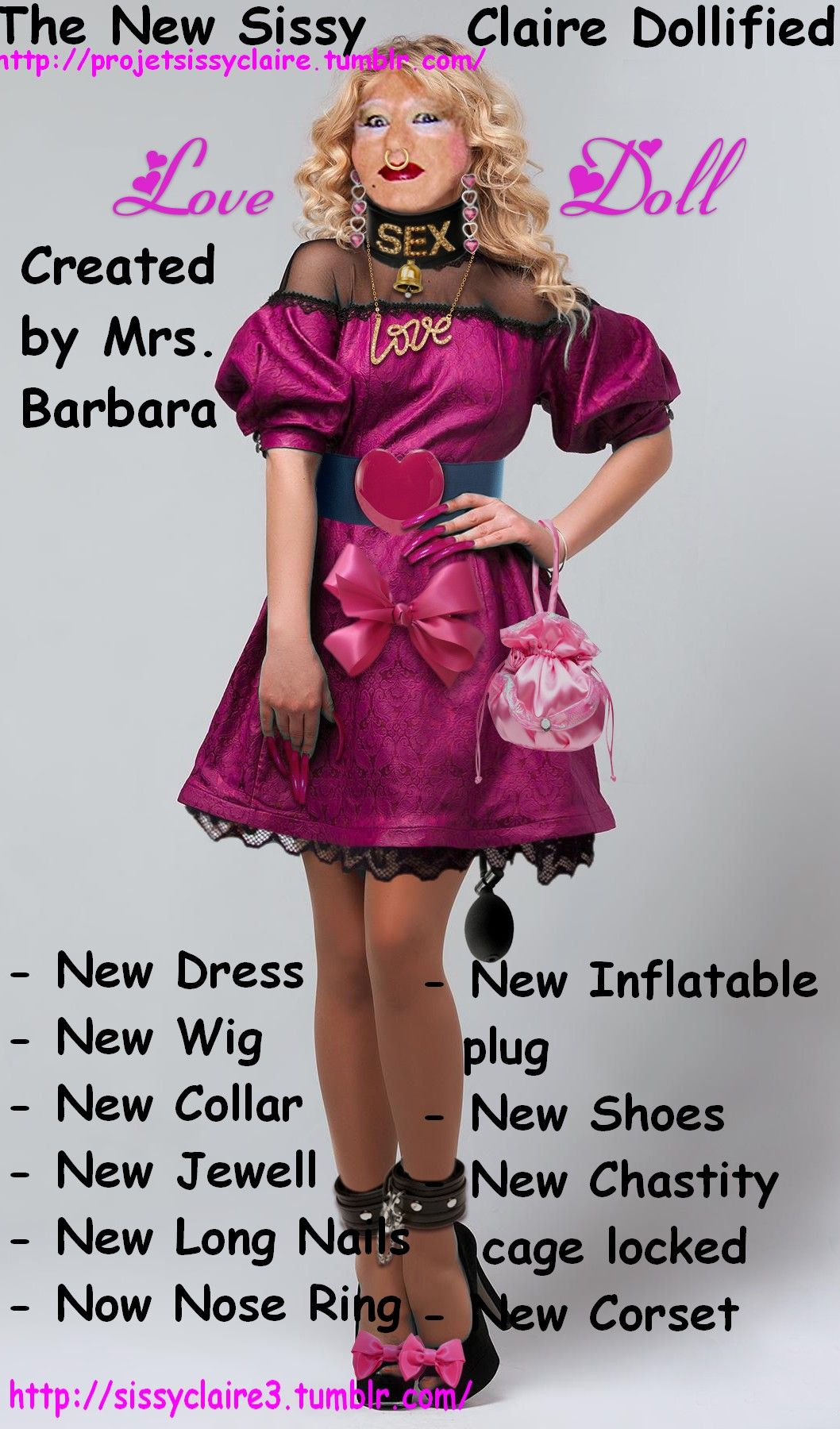 Sissy Doll Claire | Things to wear | Pinterest | Living
