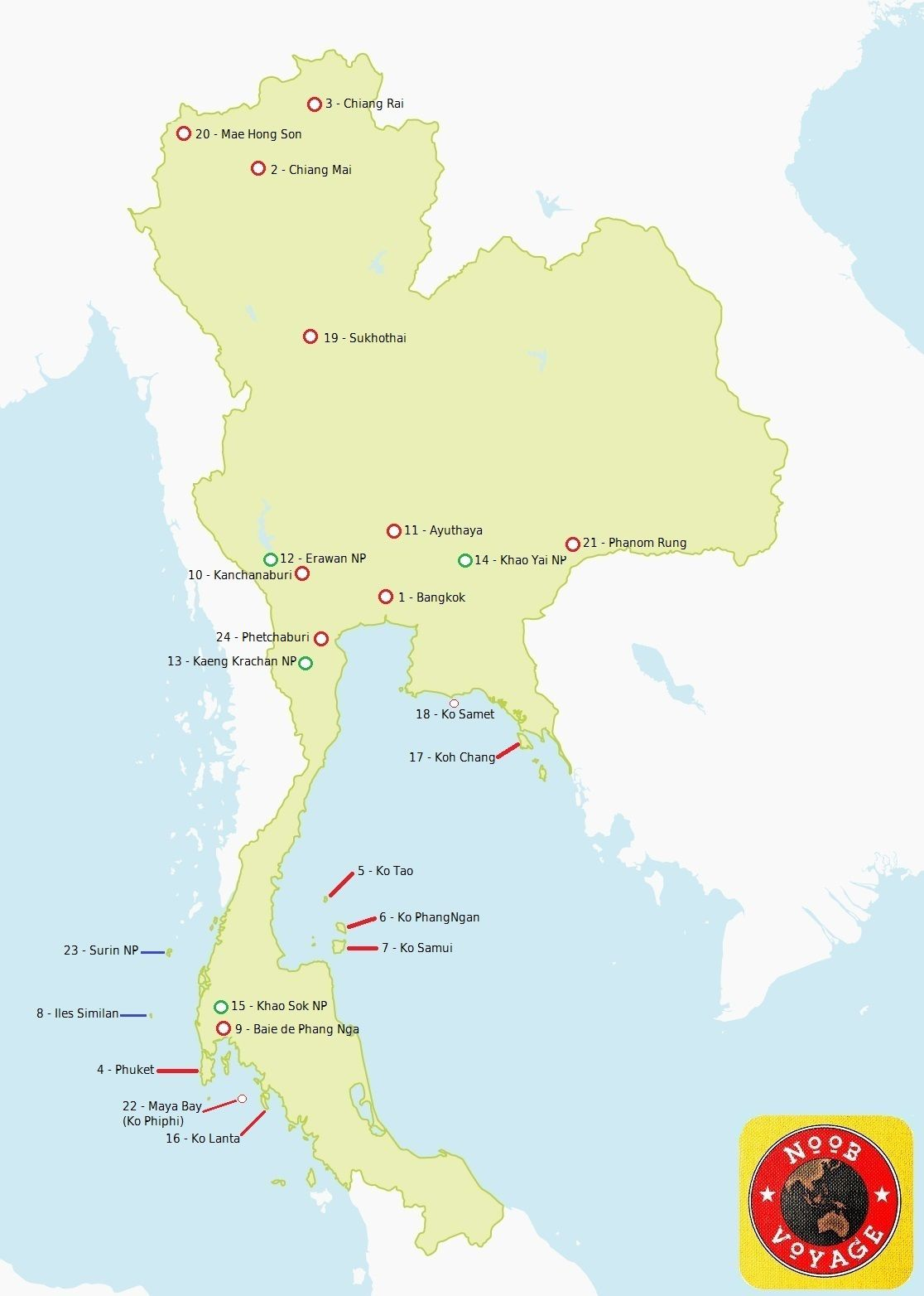 Carte Thailande Frontiere.Carte De La Thailande Detaillee Evasion A Visiter