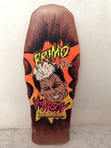 Vintage Vision Skateboards Primo Desiderio Old School Skateboard Nos Be Bold Old School Skateboards Animal Tattoo Vision Skateboards