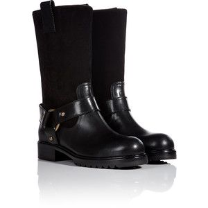 MARC JACOBS Leather Biker Boots