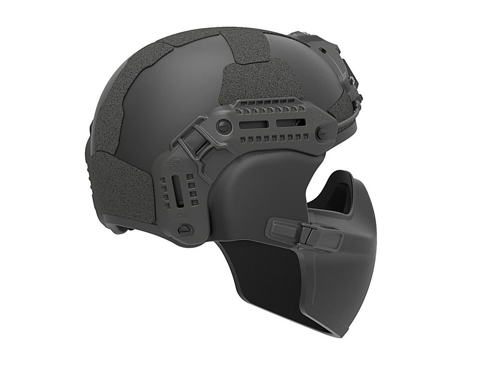 Flux Ballistic Helmet Mandible Protection Bug Out Bag