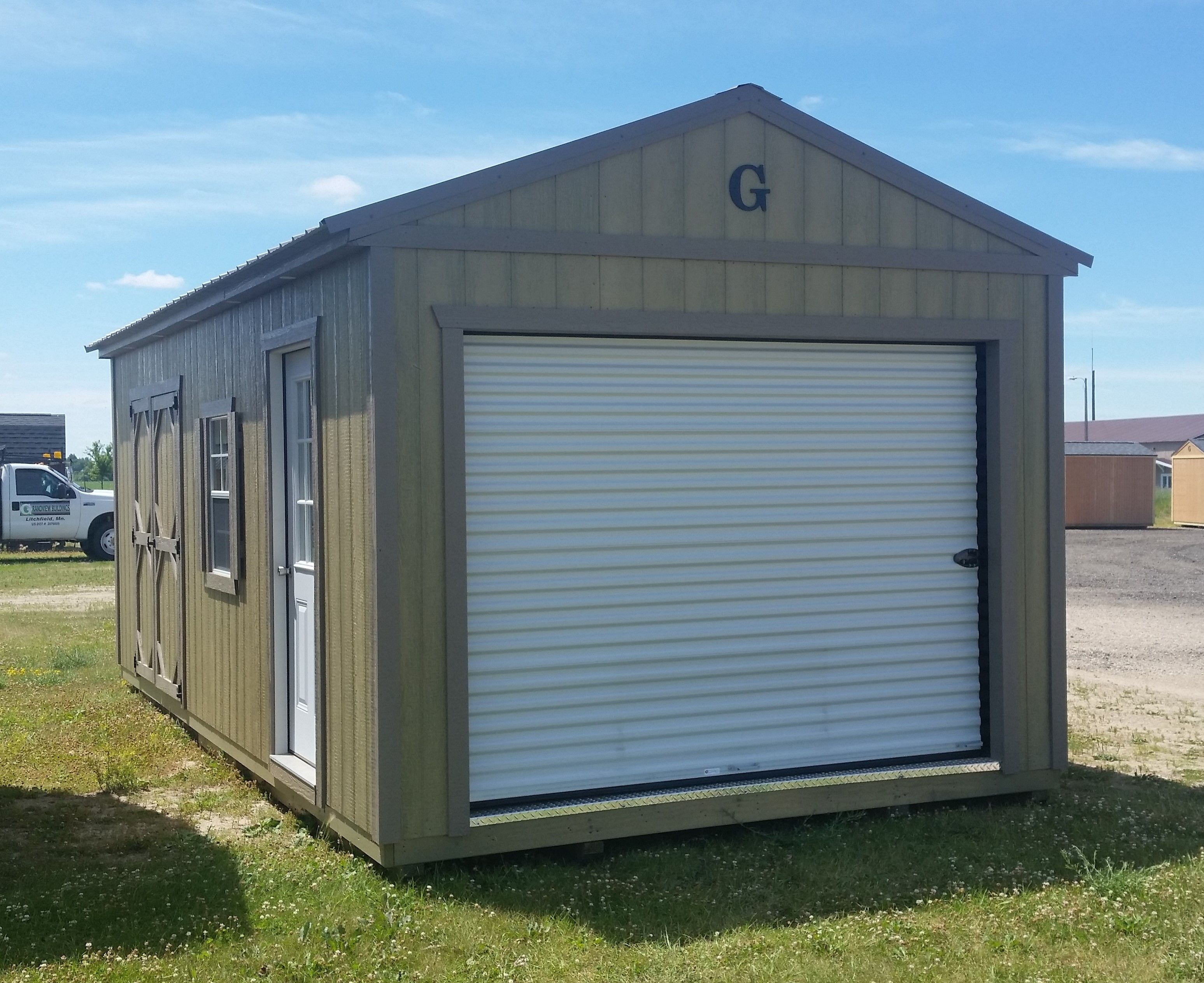 12x24 Garage Buckskin Colored Metal Roof With Matching Trim And Shutters Lp Smartside Siding With Haley Nat Garage Door Styles Garage Door Types Metal Roof