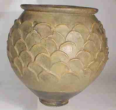 Decorated Fishing Urn Ancient Roman Vessel Decorated With Fish Scales Edgarlowen