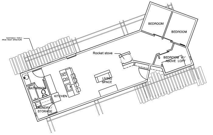 off grid house plans. DesignBuildBLUFF Studio - Navajo Reservation Suzie Whitehorse Off-Grid House Floor Plan Off Grid Plans I