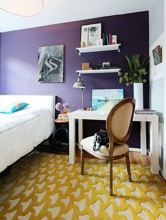 Du violet dans la chambre à coucher! 50 exemples inspirants