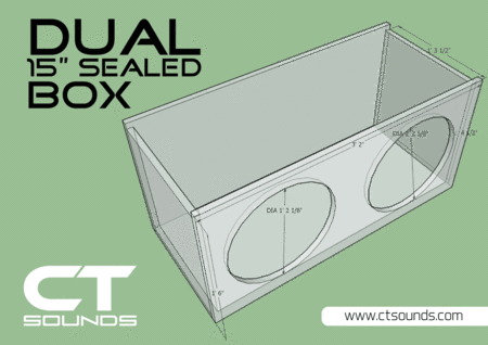 Dual 8 Inch Sealed Subwoofer Box Design In 2020 Subwoofer Box Design Subwoofer Box Box Design