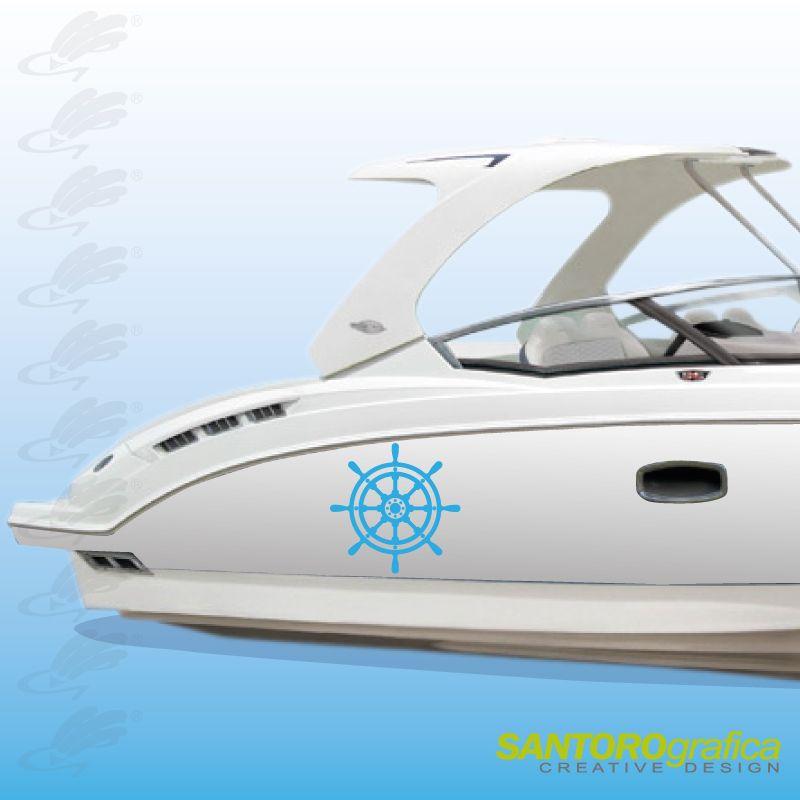 #lamiabarcacomelavoglioio #solodasantorografica  timone - adesivo per barca - disponibile in vari colori.