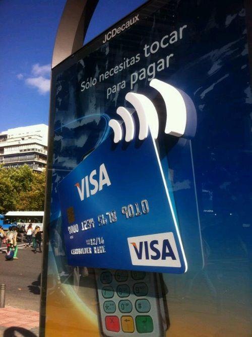 Gran Campana De Visa Para Promover Los Pagos Sin Contacto Que