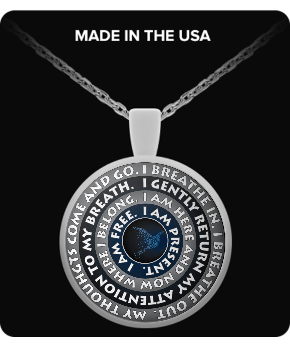 Free Shipping - Guided Meditation Pendant and Necklace!