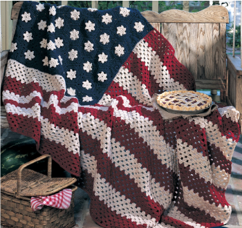 American Pride Crocheted Flag--free pattern by Red Heart