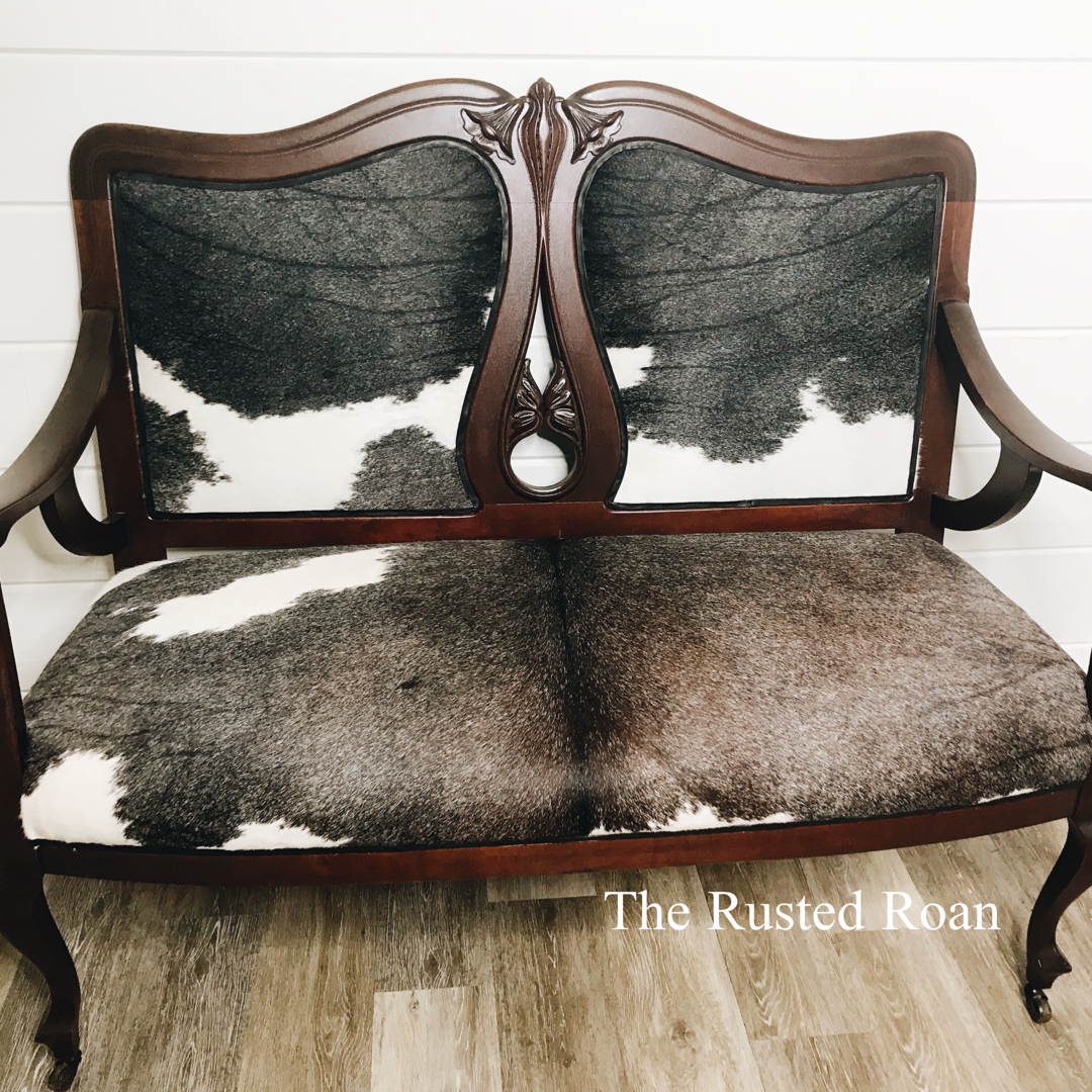 Rapture Pouffe Footrest Stool Leaf Gold Wood And Velvet Antique Furniture Antiques