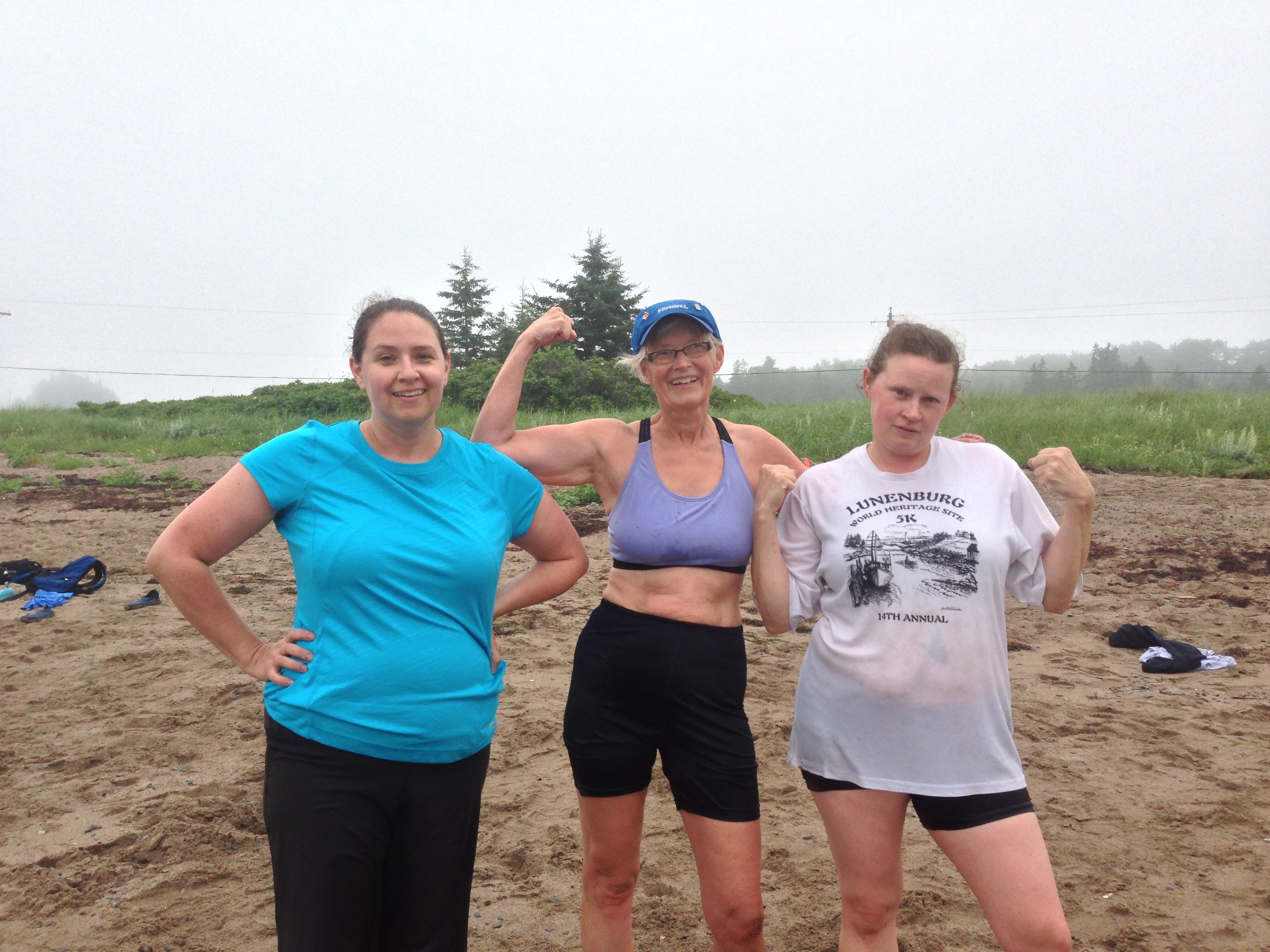 The Roblee women in Summer-Size Me! with momma in the middle, sisters on each side. Awesome!  Summer-Size Me! will be back in 2014. Wicked intense 9 day weight loss challenge!