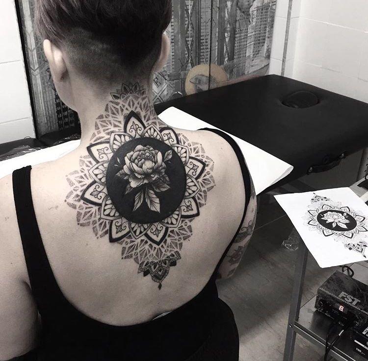 Black Ornamental Peony Tattoo Coverup Cover Up Tattoos Tattoos Peonies Tattoo