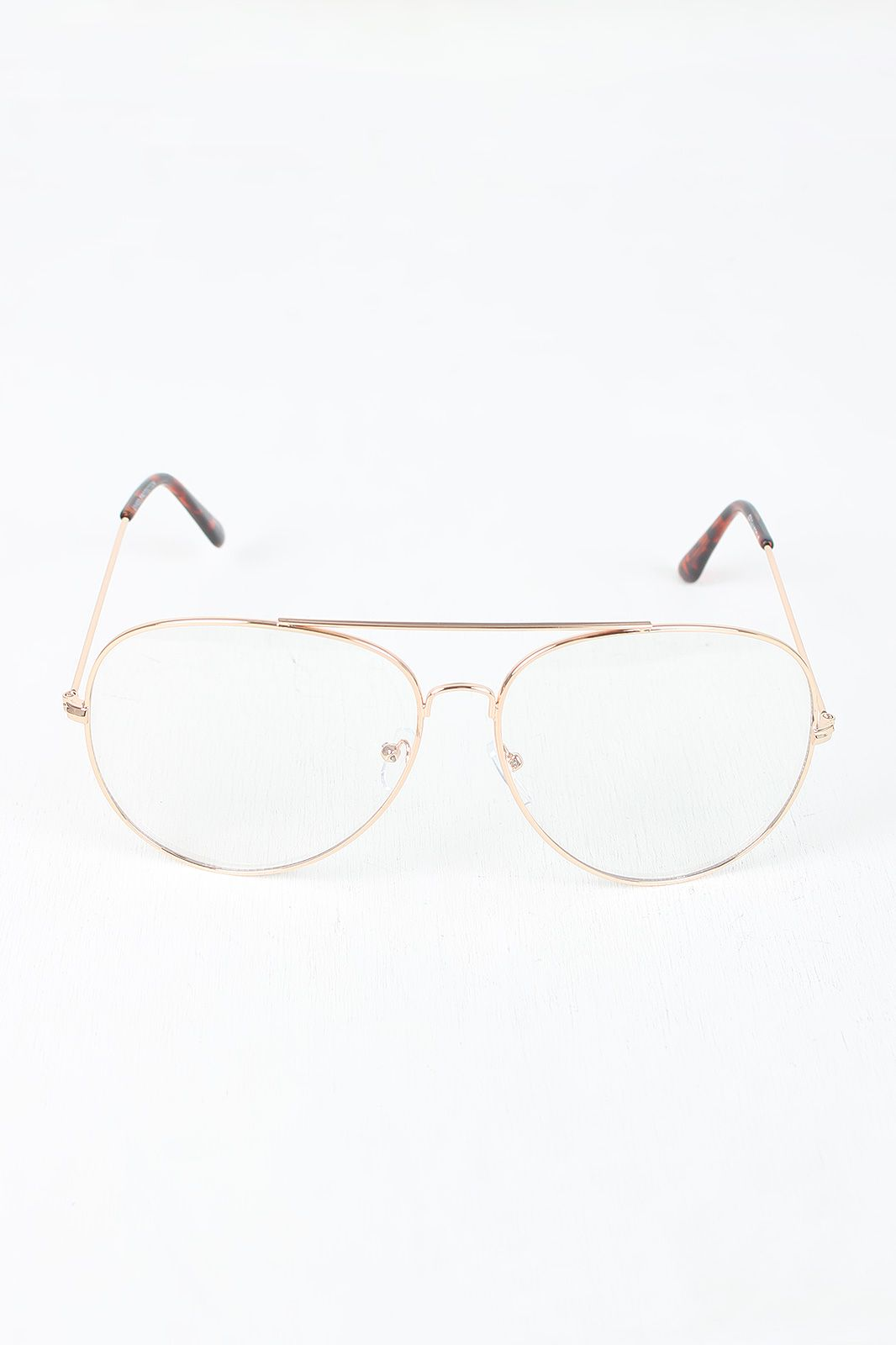 FREE SH & Easy Returns! Shop these Clear Lens Wire Aviator Glasses ...