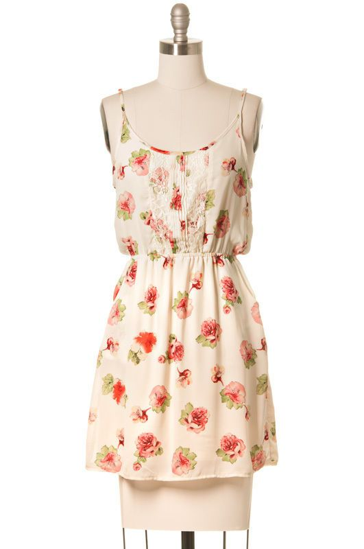64746c7a8cd2 Fun & Roses Dress Modcloth Style, Ivory, Casual, Juniors, Above Knee,  Sundress #ModCloth #Sundress #Casual