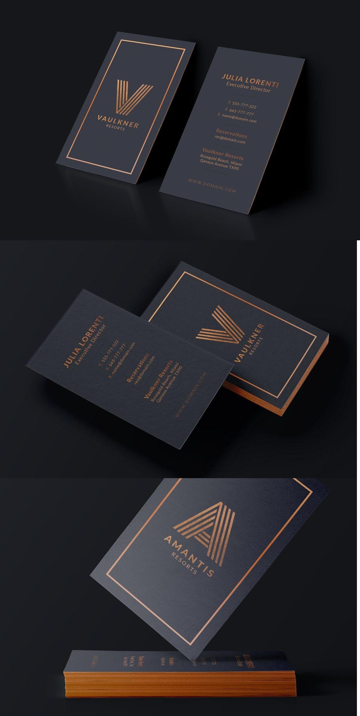 Luxury Resorts Business Card Adobe Photoshop Hotel