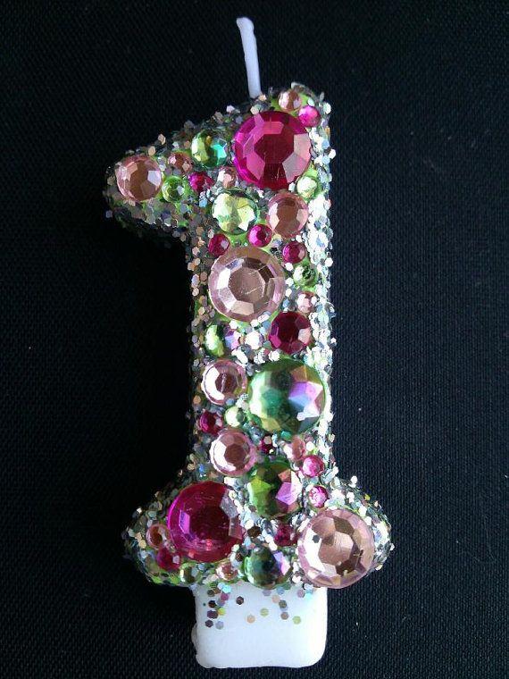 glamour princess 1st Birthday candle by LittleMissMraz on Etsy, $12.00