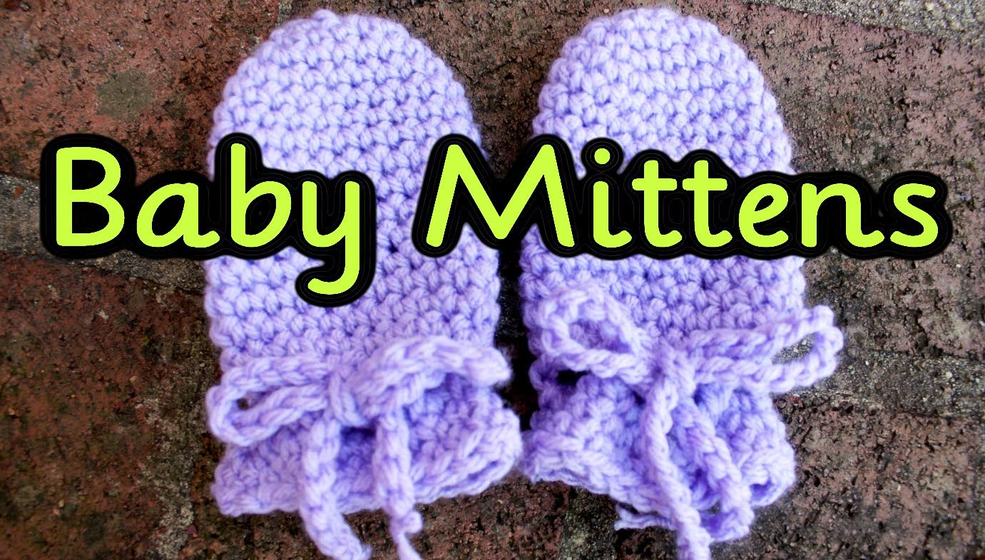 Crochet tutorial easy no seam thumbless baby mittens no scratch crochet tutorial easy no seam thumbless baby mittens no scratch mits bankloansurffo Images