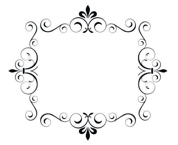Curly Q Picture Frame Vinyl Wall Decal. $29.95, via Etsy