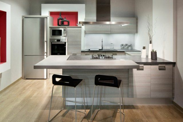 107 idées de îlot central de cuisine fonctionnel et convivial Kitchens