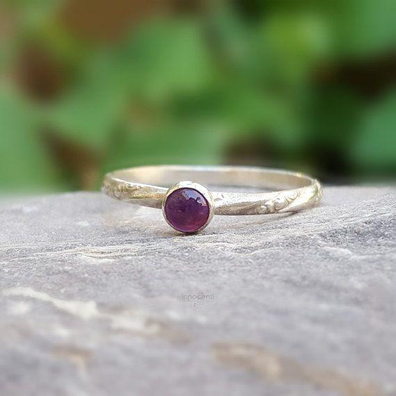 Amethyst Ring Dainty Amethyst Ring Small Stack Ring Amethyst