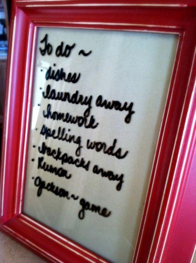 The Friday Fluff Up: Dry Erase Frames & Plates | Craft, Diy frame ...