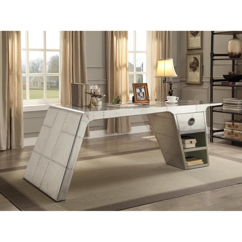 Acme Brancaster Aluminum Desk 92190